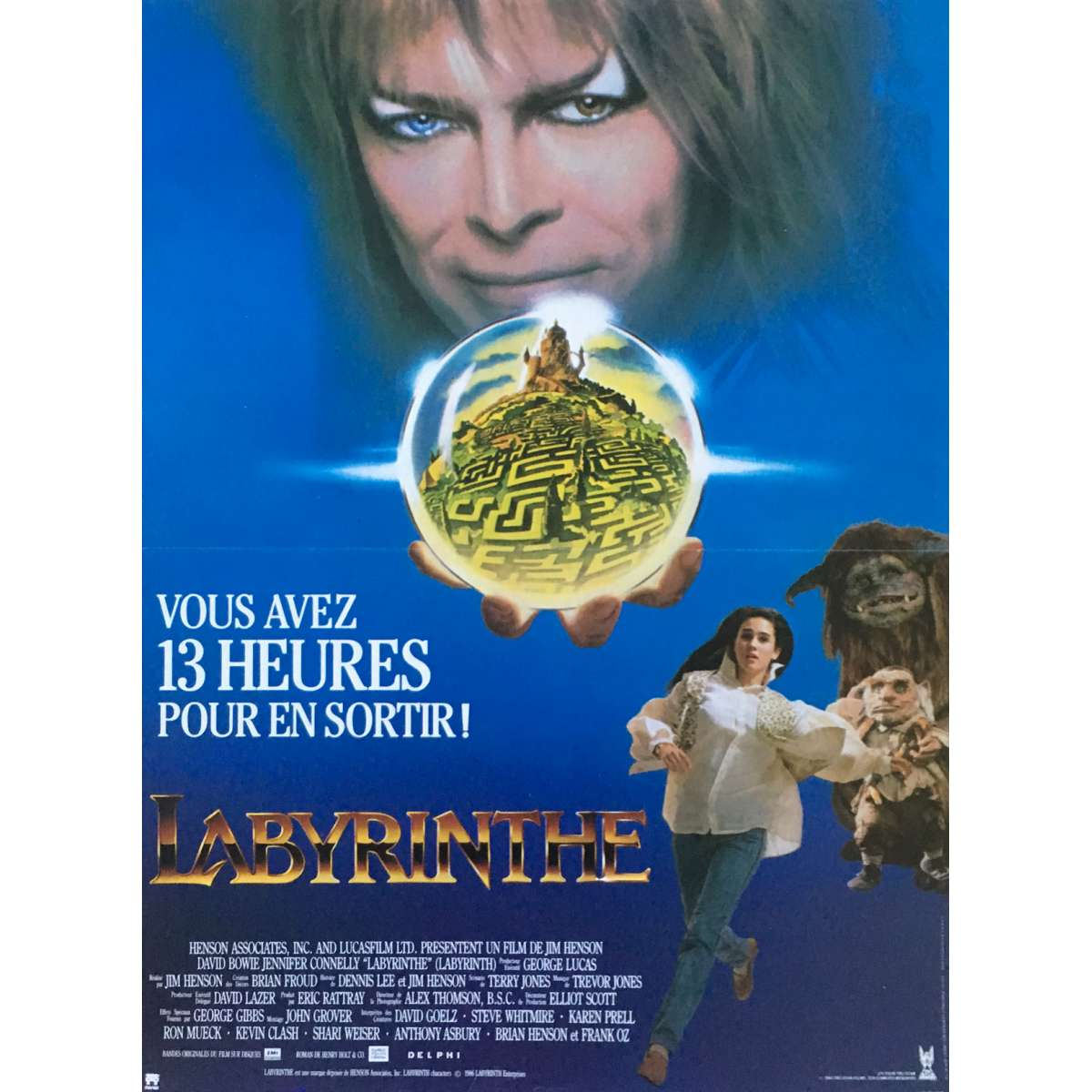 LABYRINTH Movie Poster 15x21 in. Labyrinth 1986 Poster