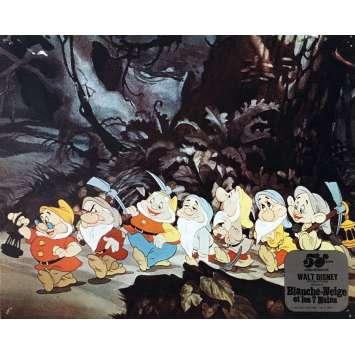 SNOW WHITE AND THE SEVEN DWARFS Lobby Card N07 - 10x12 in. - R1980 - Walt Disney, Walt Disney
