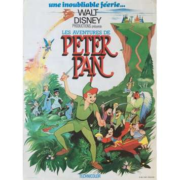 PETER PAN Movie Poster - 15x21 in. - R1960 - Walt Disney, Bobby Driscoll