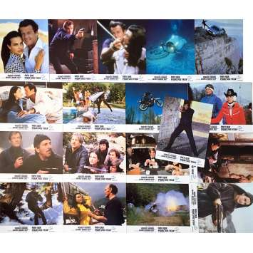 FOR YOUR EYES ONLY Lobby Cards x18 - 9x12 in. - 1981 - John Glen, Roger Moore