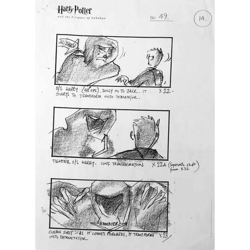 HARRY POTTER ET LE PRISONNIER D'AZKABAN Storyboard - 40x60 cm. - 2004 - Daniel Radcliffe, Alfonso Cuaron