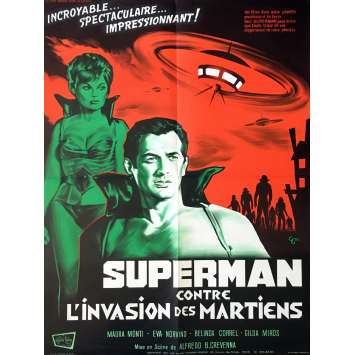 SUPERMAN CONTRE L'INVASION DES MARTIENS Affiche de film - 60x80 cm. - 1967 - Santo, Alfredo B. Crevenna