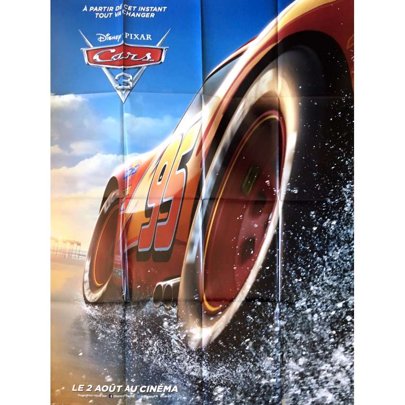 CARS 3 Movie Poster Adv. - 47x63 in. - 2017 - Pixar, Owen Wilson