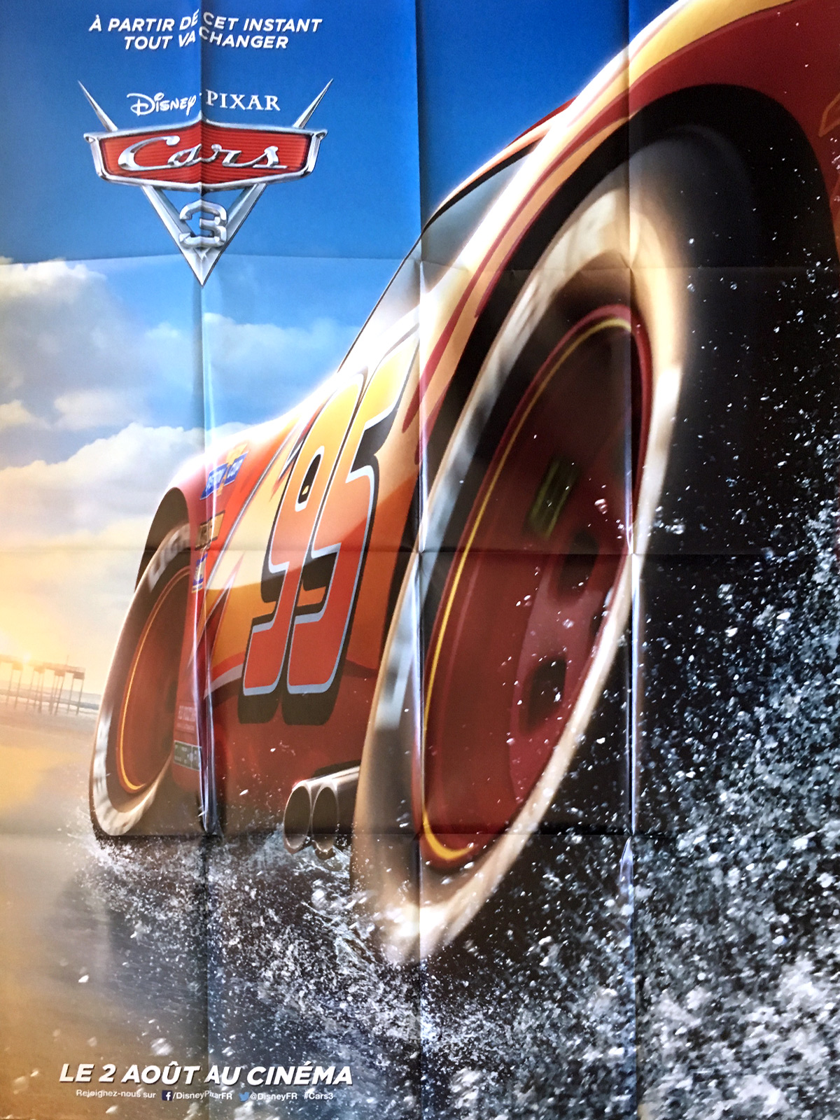 Cars 3 Movie Poster 47x63 In