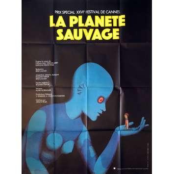 LA PLANETE SAUVAGE Affiche de film - 120x160 cm. - 1973 - Barry Bostwick, René Laloux