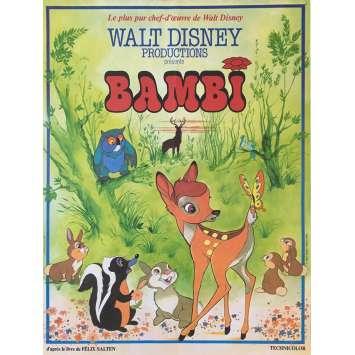 BAMBI Affiche de film 40x60 cm - 1964 - Hardie Albright, Walt Disney