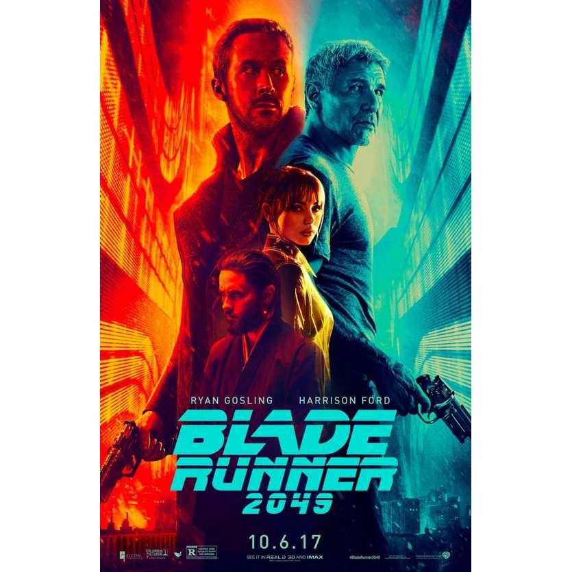 BLADE RUNNER 2049 Affiche de film US - 69x104 - 2017 - Gosling, Ford, Villeneuve