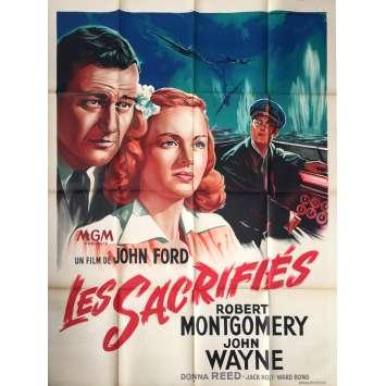 LES SACRIFIES Affiche de film - 120x160 cm. - 1945 - John Wayne, John Ford