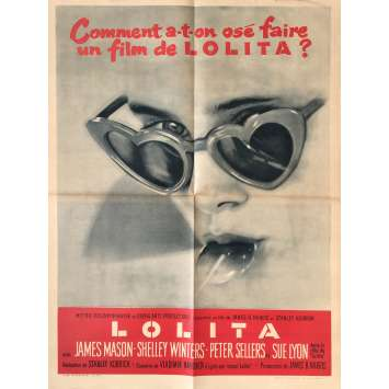 LOLITA Movie Poster - 23x32 in. - 1962 - Stanley Kubrick, James Mason