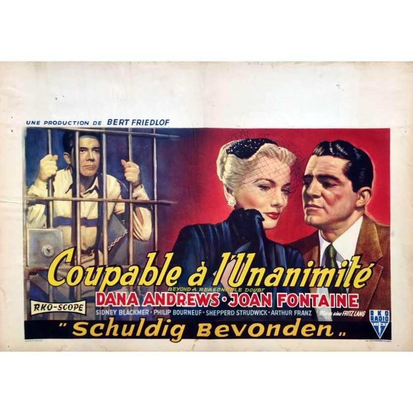 L'INVRAISEMBLABLE VERITE Affiche de film - 35x55 cm. - 1956 - Joan Fontaine, Fritz Lang
