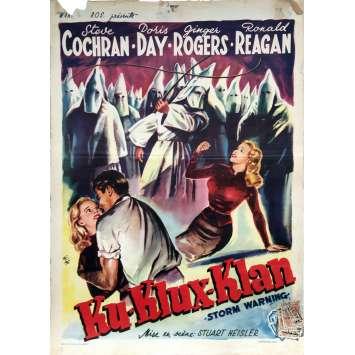 KU-KLUX-KLAN Affiche de film - 35x55 cm. - 1951 - Ronald Reagan, Stuart Heisler