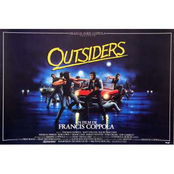 THE OUTSIDERS Movie Poster Folded - 15x21 in. - 1983 - Francis Ford Coppola, Matt Dillon