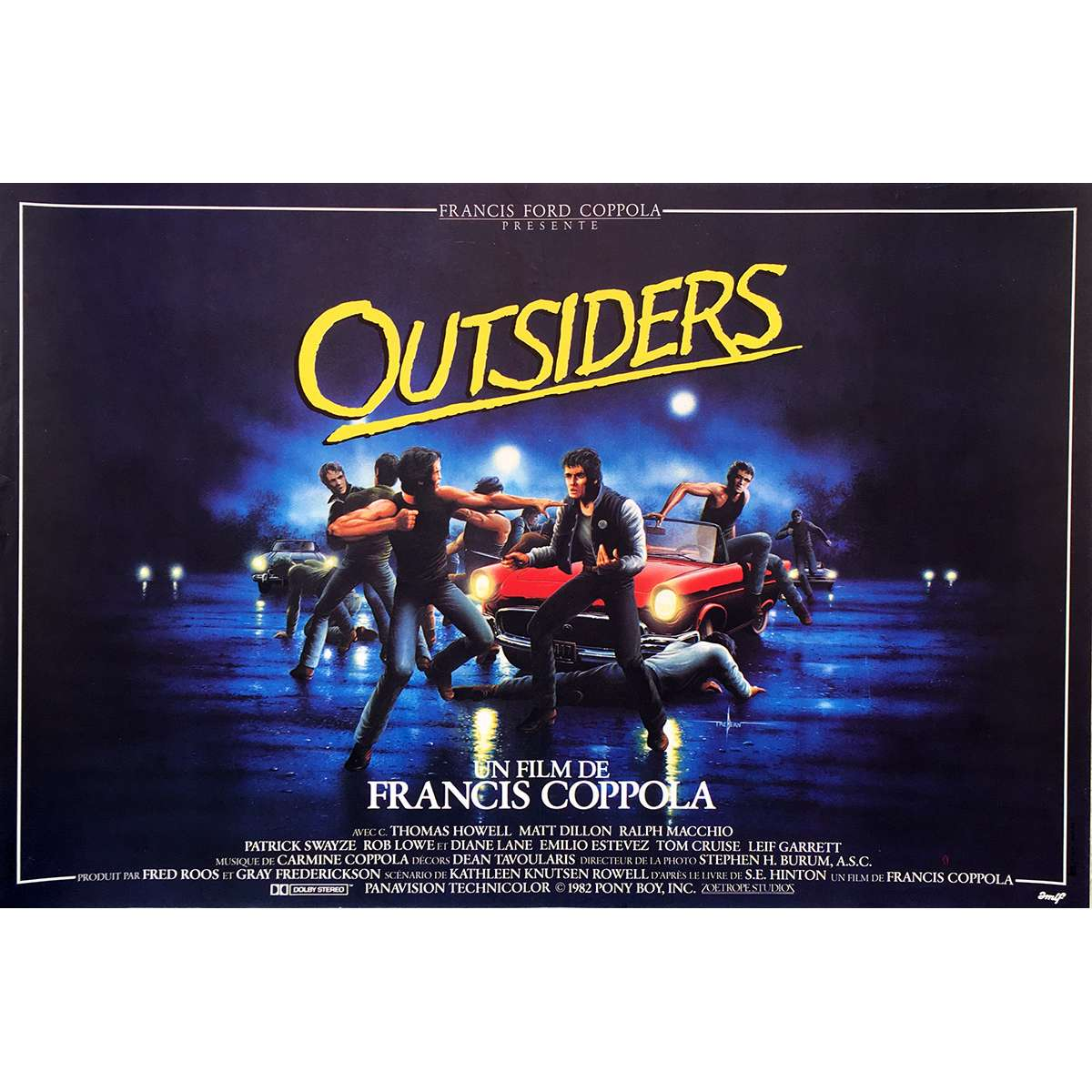the outsiders movie poster 15x21 in