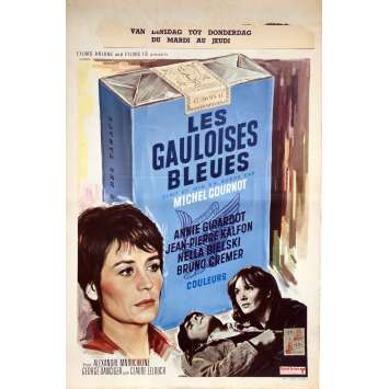 LES GAULOISES BLEUES Movie Poster - 14x21 in. - 1969 - Michel Cournot, Annie Girardot