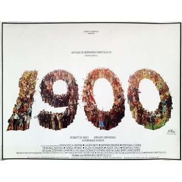 1900 Affiche de film - 40x60 cm. - 1976 - Robert de Niro, Bernardo Bertolucci