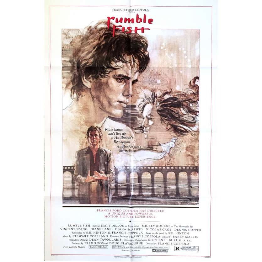 RUMBLE FISH US Movie Poster 27x41 - 1984 - Francis Ford Coppola, Michey Rourke -