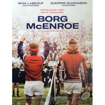BORG McENROE Movie Poster - 15x21 in. - 2017 - Janus Metz, Shia LaBeouf