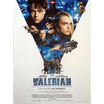 VALERIAN Movie Poster - 15x21 in. - 2017 - Luc Besson, Dane DeHaan