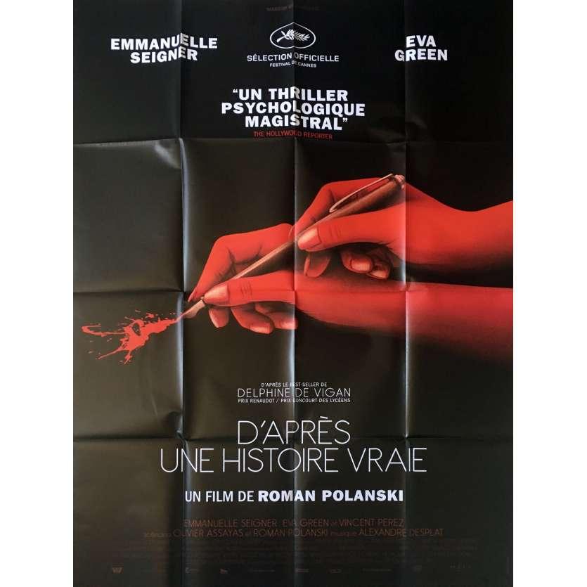 BASED ON A TRUE STORY Movie Poster - 47x63 in. - 2017 - Roman Polansky, Eva Green