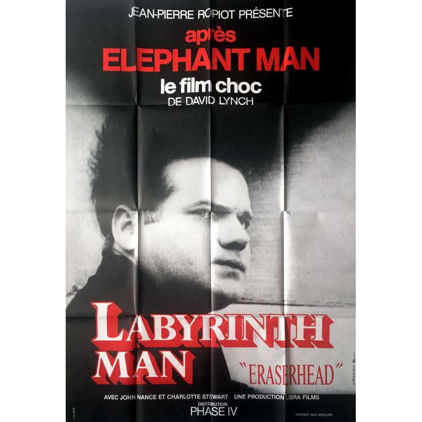 ERASERHEAD Affiche de film 120x160 - 1977 - Jack Nance, David Lynch