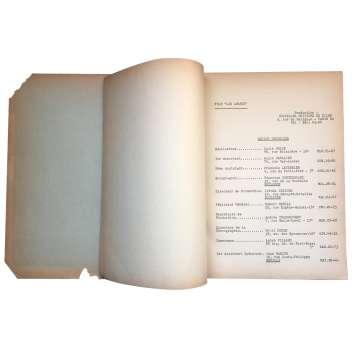 LES AMANTS Scénario - 21x30 cm. - 1958 - Jeanne Moreau, Louis Malle