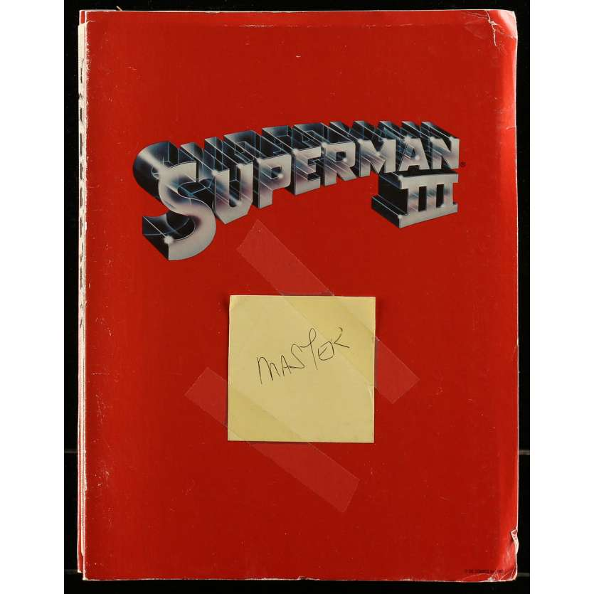 SUPERMAN 2 Scénario - 21x30 cm. - 1977 - Christopher Reeves, Richard Donner