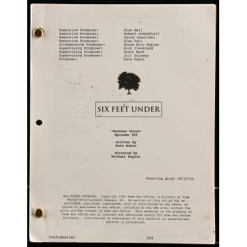 SIX FEET UNDER - ANOTHER VOICE Movie Script - 9x12 in. - 2002 - Alan Ball, Kate Robin
