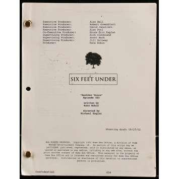 SIX FEET UNDER - ANOTHER VOICE Scénario - 21x30 cm. - 2002 - Kate Robin, Alan Ball