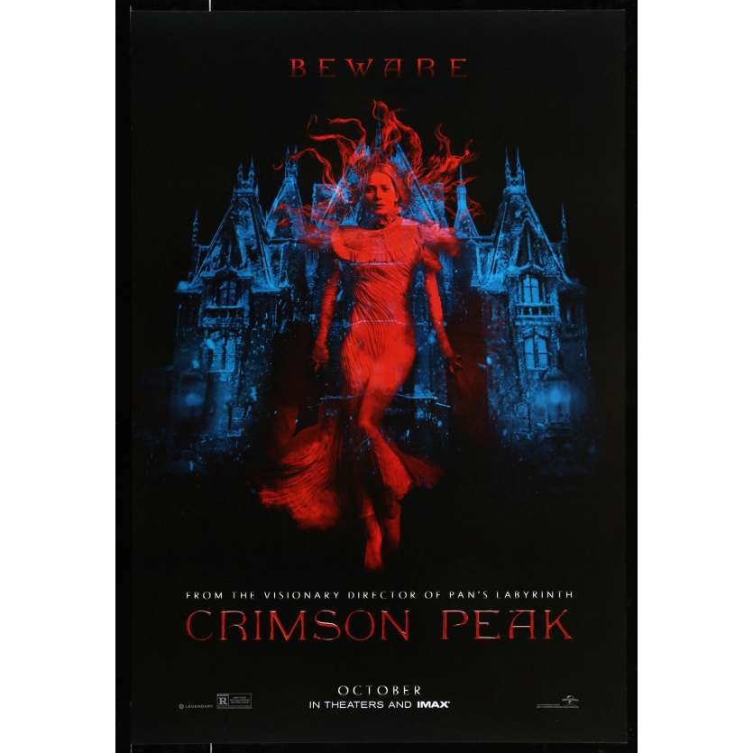 CRIMSON PEAK Rare Teaser US Movie Poster 29x40 - 2015 - Guillermo del Toro, Jessica Chastain
