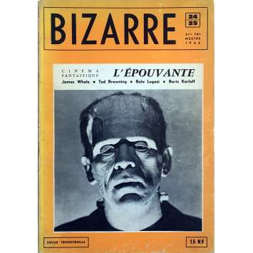 BIZARRE : L'EPOUVANTE Magazine 100 pages - 7x9 in. - 1962 - James Whale, Boris Karloff