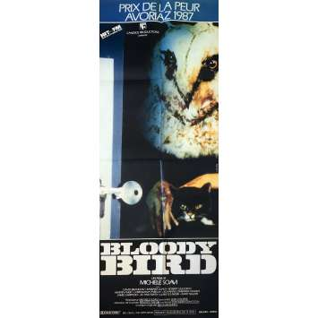 BLOODY BIRD Affiche de film - 60x160 cm. - 1987 - David Brandon, Michele Soavi