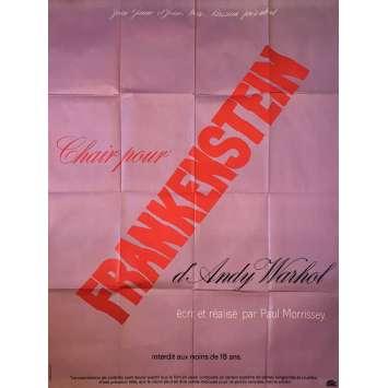 CHAIR POUR FRANKENSTEIN Affiche de film - 120x160 cm. - 1973 - Udo Kier, Paul Morrissey, Andy Warhol