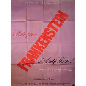 FLESH FOR FRANKENSTEIN Movie Poster - 47x63 in. - 1973 - Paul Morrissey, Andy Warhol, Udo Kier