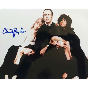 DRACULA A.D. 1972 Signed Photo - 9x12 in. - 1973 - Alan Gibson, Christopher Lee