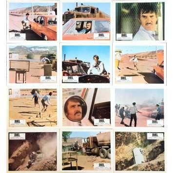 DUEL Lobby Cards x12 - 9x12 in. - 1971 - Steven Spielberg, Dennis Weaver