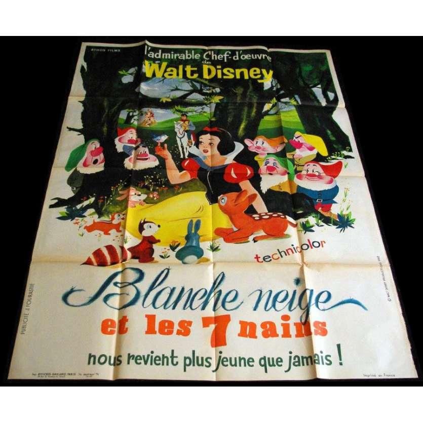 DISNEY Blanche-Neige et les 7 nains Affiche française R1962