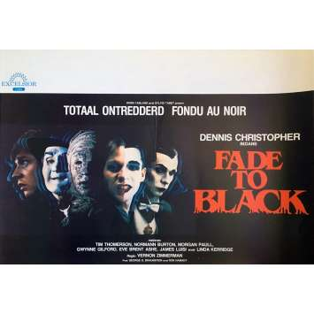 FADE TO BLACK Movie Poster - 14x21 in. - 1980 - Vernon Zimmerman, Dennis Christopher