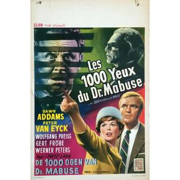 THE 1000 EYES OF DR. MABUSE Movie Poster - 14x21 in. - 1960 - Fritz Lang, Dawn Addams