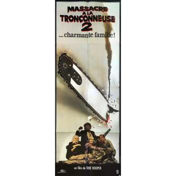 MASSACRE A LA TRONÇONNEUSE 2 Affiche de film - 120x160 cm. - 1986 - Dennis Hopper, Tobe Hooper