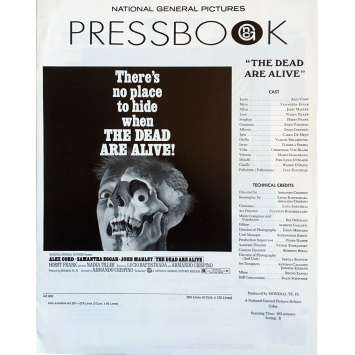 THE DEAD ARE ALIVE Pressbook - 11x17 in. - 1972 - Armando Crispino, Samantha Eggar