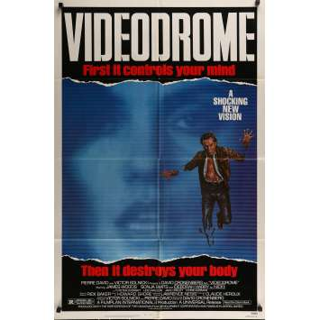 VIDEODROME Movie Poster - 29x41 in. - 1983 - David Cronenberg, James Woods