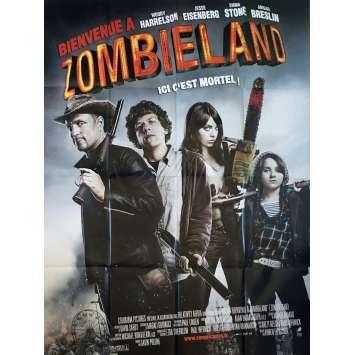 ZOMBIELAND Affiche de film - 120x160 cm. - 2009 - Woody Harrelson, Ruben Fleischer