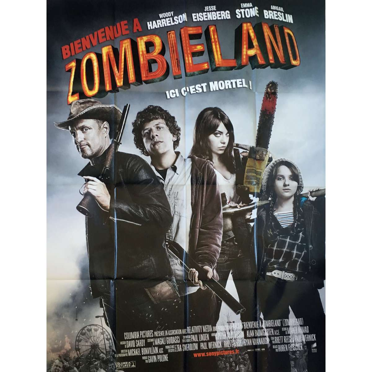 affiche de zombieland. Black Bedroom Furniture Sets. Home Design Ideas