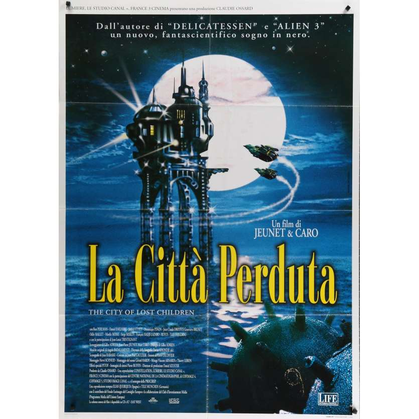 CITY OF LOST CHILDREN Italian Movie Poster 39x55 - 1998 - Jean-Pierre Jeunet, Ron Perlman