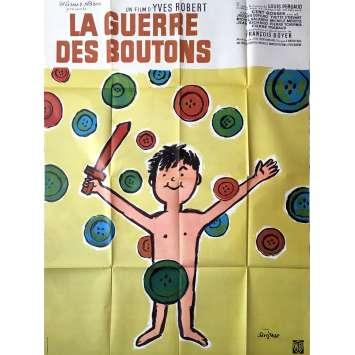 LA GUERRE DES BOUTONS Affiche de film - 120x160 cm. - R1960's - Dufilho, Savignac