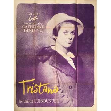 TRISTANA Affiche de film - 120x160 cm. - 1970 - Catherine Deneuve, Luis Buñuel