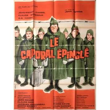 LE CAPORAL EPINGLE Affiche de film - 120x160 cm. - 1962 - Jean-Pierre Cassel, Jean Renoir