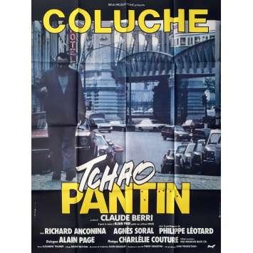 TCHAO PANTIN Affiche de film Mod. A - 120x160 cm. - 1983 - Coluche, Claude Berri