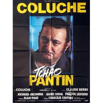 TCHAO PANTIN Affiche de film Mod. B - 120x160 cm. - 1983 - Coluche, Claude Berri