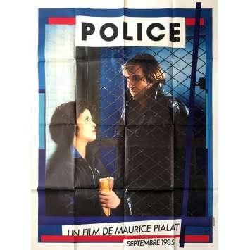 POLICE Affiche de film Prev. - 120x160 cm. - 1985 - Gérard Depardieu, Maurice Pialat